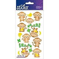 Sticko Classic Dancing Monkeys Stickers