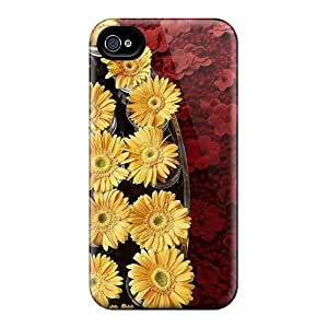 Premium Tpu Mums Plant Cover Skin For Iphone 4/4s