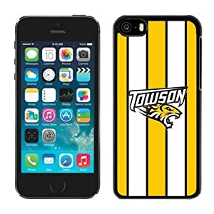 LJF phone case New Designer Apple Iphone 5c Covers Ncaa Colonial Athletic Association Towson Tigers Back Shell Cellphone Accessories Case Mate