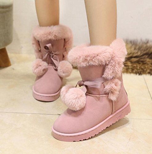 Lady-in-tube in the DermIS high snow boots PINK-39 M1vaf0S