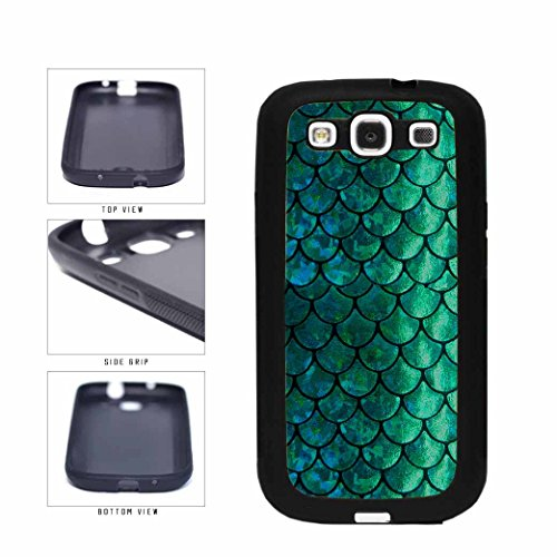 BleuReign(TM) Pretty Green and Blue Mermaid Scales TPU RUBBER Phone Case Back Cover Samsung Galaxy S3 - In S3 Dark Galaxy The Case Glow