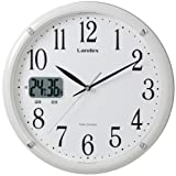 LANDEX ( run index ) radio Wall Clock Sokuteru analog display Steady temperature humidity display white YW9113WH