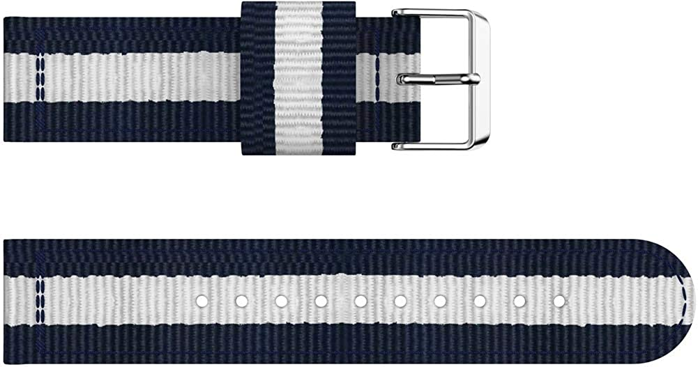 NeatCase Nylon Wasserdicht Uhrenarmband kompatibel mit Ticwatch 2 / C2 (20mm) / E, NATO Strap Militär 4pcs B