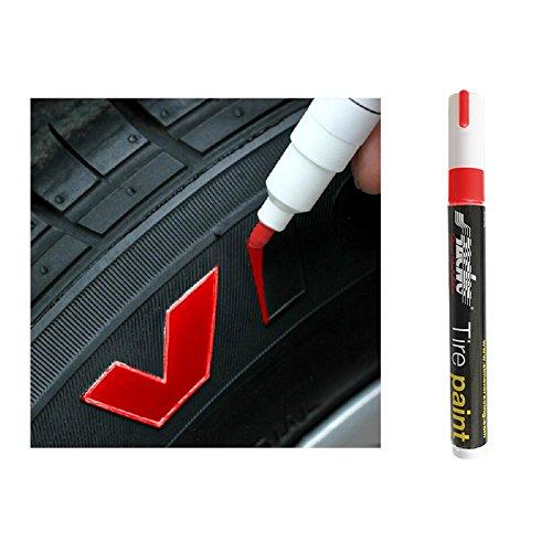 SIMONI RACING TP/1R Rotulador de Pintura Permanente para Neumáticos, Rojo: Amazon.es: Coche y moto