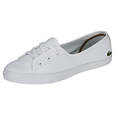 f3667e6fb Lacoste Ziane Chunky 318 1 Womens Trainers White - 8 UK  Amazon.co ...