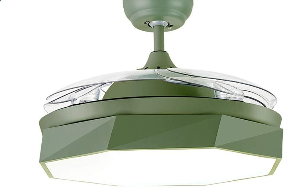 William 337 candelabro Araña, LED Ventilador de Techo Invisible Araña, Hogar Nordic Restaurant Sala de Estar Dormitorio Lámpara de Color silencioso [Clase de eficiencia energética A++]: Amazon.es: Hogar