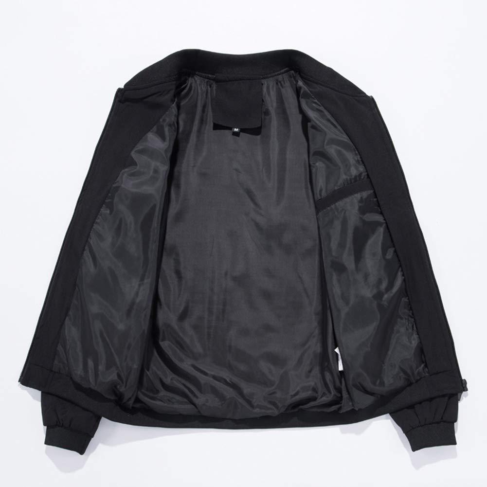 Wenchuang Giacche da Uomo Giubbotto Bomber Slim Fit Giacca a Vento Leggero Cappotto con Cerniera