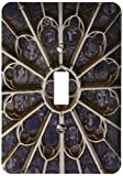 3dRose lsp_188737_1 France, Paris. Stained Glass Windows Of Notre-Dame Cathedral. - Single Toggle Switch