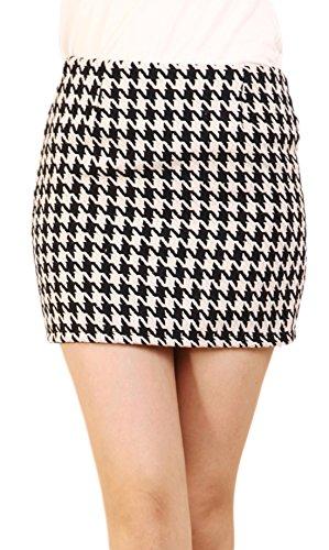 Houndstooth Mini Skirt - 1