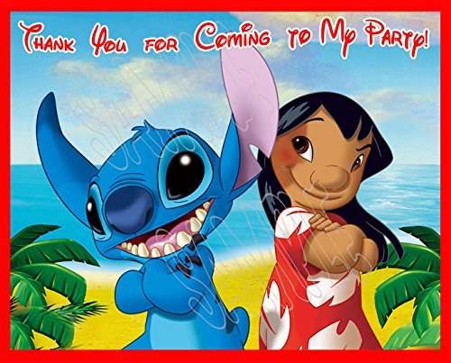 Lilo and Stitch Party Favors Supplies Decorations Gift Bag Label STICKERS ONLY 3.75