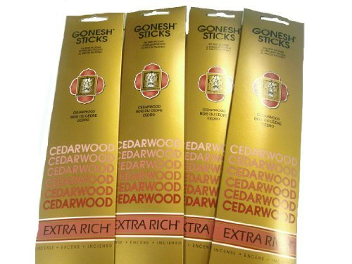Gonesh Incense Sticks - Cedarwood lot of 4