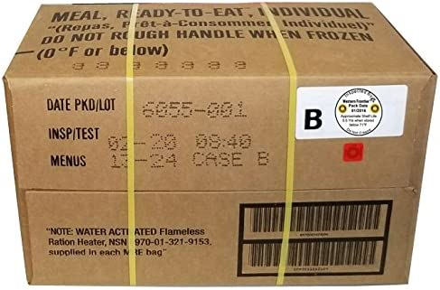 Western Frontier MRE 2020, caja de fecha de inspección, 12 comidas con fecha de inspección 2020, 2017 Comida Militar Surplus lista para comer.: Amazon.es: Juguetes y juegos