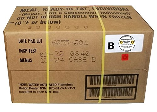 MRE 2020 Inspection Date Case, 12 Meals with 2020 Inspection Date, 2017 Pack Date. Military Surplus Meal Ready to Eat. - Military Certificate Paper