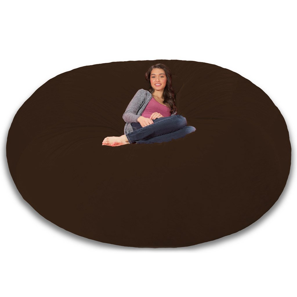 Amazon.com: Comfy Sacks 8 Ft Memory Foam Bean Bag Chair, Brown Furry:  Kitchen U0026 Dining