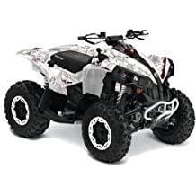 AMR Racing Can Am Renegade 800x 800r ATV Quad Graphic Kit - Bone Collector: White