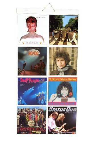 (Picture Pockets Hanging Display for 8 x 12 Vinyl LP Records Albums Covers, Wall Frame by The Present Store by The Present)