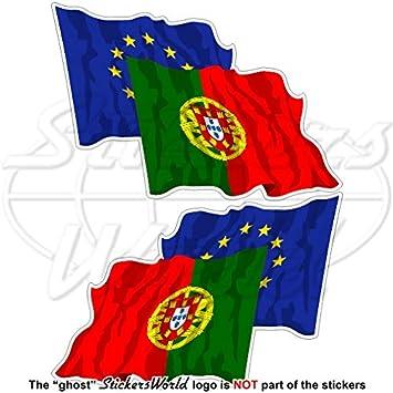 Europea union-portugal Bandera de saludando Par, eu-pt europe-portuguese 3
