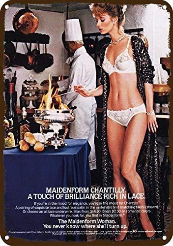 0fde51e2329a Amazon.com: Yilooom 1983 Maidenform Bra & Panties Vintage Look Replica  Metal Sign 7