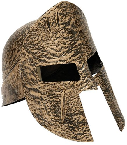 [Forum Novelties Greek Roman Spartan Warrior Knight Gold Costume Helmet] (Roman God Costumes)
