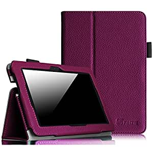 """Fintie Folio Case for Fire HDX 7 - Slim Fit Leather Standing Protective Cover with Auto Sleep/Wake (will only fit Kindle Fire HDX 7"""" 2013), Purple"""