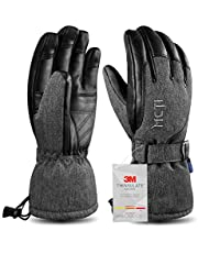 Kineed Waterproof Ski Gloves Mens Extreme Cold Weather Winter Snowboard Snowmobile Motorcycle 3M Thinsulate Warm Gloves