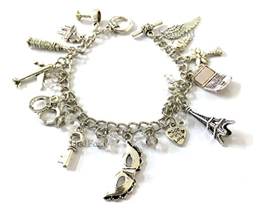 Fifty Shades Charm Bracelet - Christian Grey, Jamie Dornan, Anasasia Steele, Dakota Johnson Wristlet (Fifty Shades of (Famous Couples Halloween)