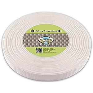 Country Brook Design | Polypropylene Webbing (1 Inch) (White, 25 Yards)