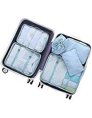 PUBAMALL Bolsas de almacenamiento de viaje, organizadores de empaque de equipaje Cubos de empaque para viajes