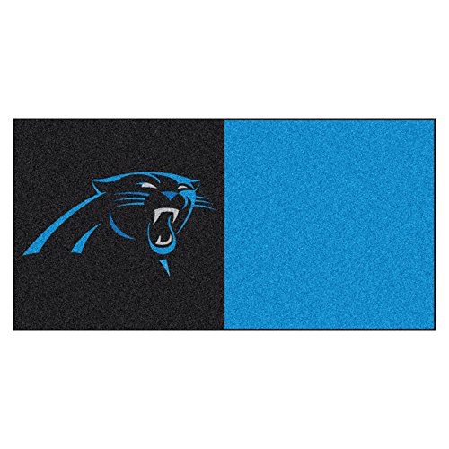 FANMATS NFL Carolina Panthers Nylon Face Team Carpet Tiles