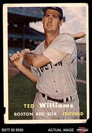 Amazoncom 1957 Topps 1 Ted Williams Boston Red Sox Baseball