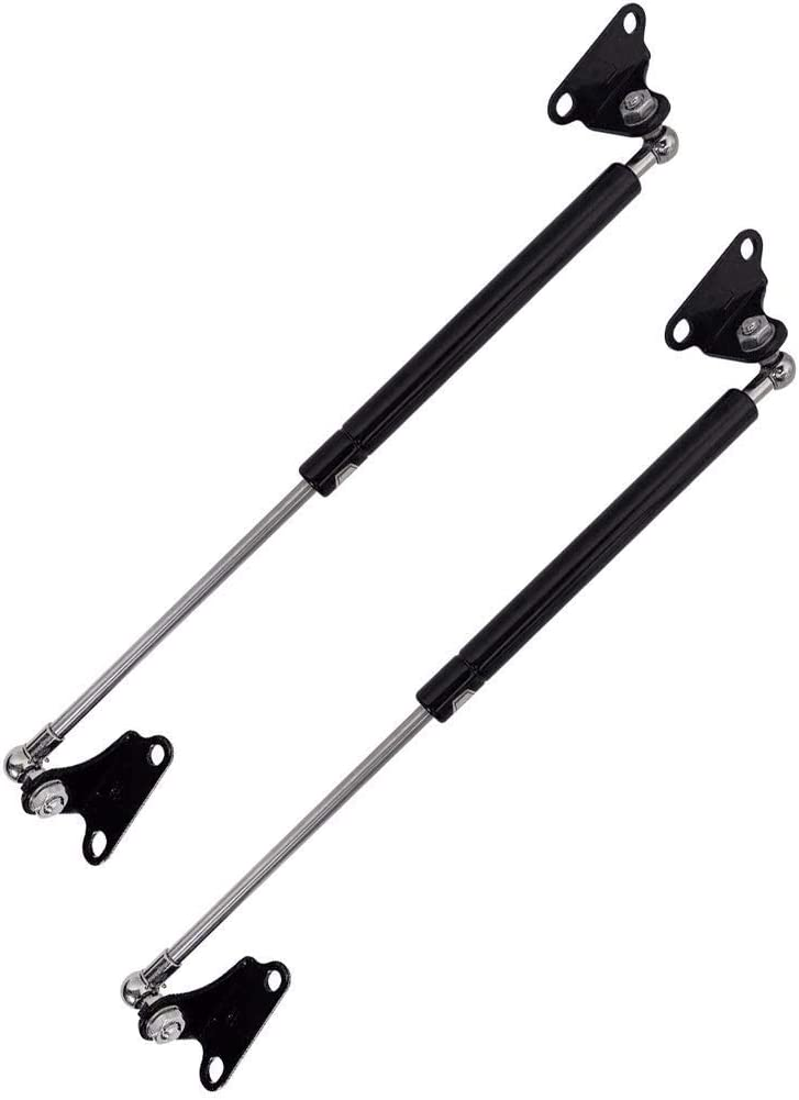 15-Inch Universal Lift Supports Struts/Gas Spring Prop Force 300N/67LB Per Shock for RV Bed Platform/Floor Hatch/Outdoor Bench/Cabinet/Tool Box/Truck Canopy/Camper Shell Cover Lid Door, 2 Pcs