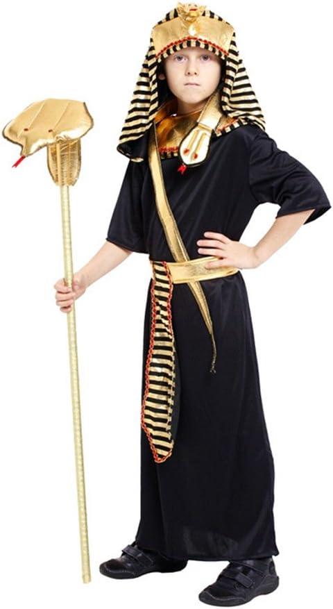 JT-Amigo Disfraz de Faraón Egipcio para Niño, 6-7 años: Amazon.es ...