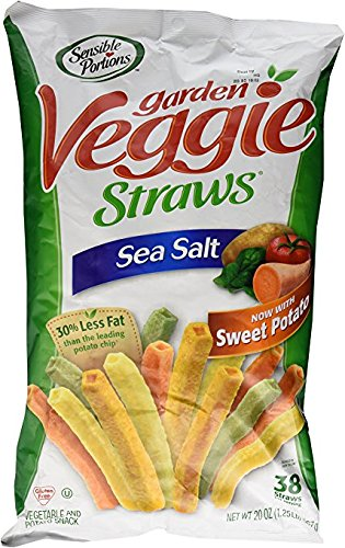 Sensible Portions Garden Veggie Straws Sea Salt 20 Oz. (1.25 Lb.) (pack of 6) by Sensible