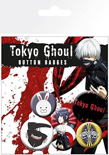 1art1 Tokyo Ghoul - Mix, 4 X 25mm & 2 X 32mm Chapas Set De Chapas (15 x 10cm): Amazon.es: Hogar