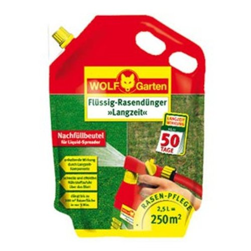WOLF LL 250 R Flüssig-Rasendünger - Langzeit - | 2,5 Liter für Rasen