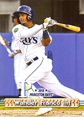2018 Grandstand Princeton Rays 6 Wander Franco Pre Rookie Baseball Card His 1st Official Minor League Card