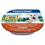 Cheap Natural Balance Delectable Delights Wet Dog Food Cups, Woof'Erole Tuna And Turkey Formula Broth With Sweet Potato And Green Beans, 2.75 Oz (Pack Of 24)