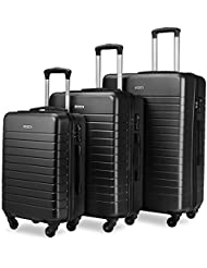 Luggage Set Suitcase Set 3 Piece Luggage Lightweight Hard Shell Spinner Wheels Waterproof Suitcase (20 inch, 24...