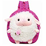 Children's School Bags Cute Lamb Baby Kids Boys Girls Shoulders Backpack,Pink