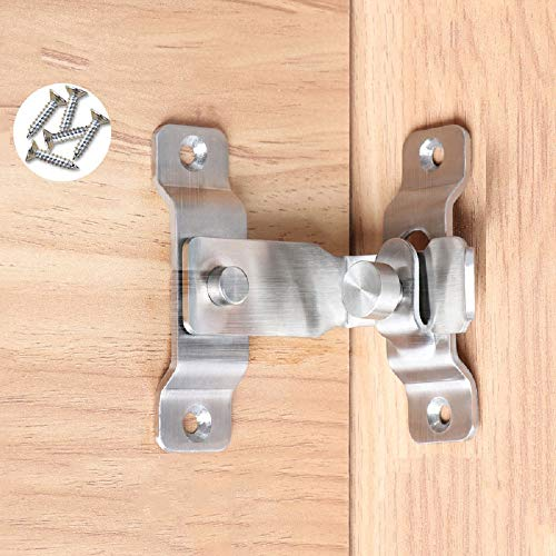 Large The 90 Door Buckle Bolt barn Door Lock Right Angle Bending Latch hasp Toilet Doors and Windows Self-contained Locking Device