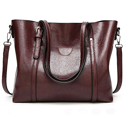 FiveloveTwo Ladies All-match Top-Handle Bags Crossbody Hobo Shoulder Satchel Tote Bags Shopper Clutch Handbags Purse for Women Coffee