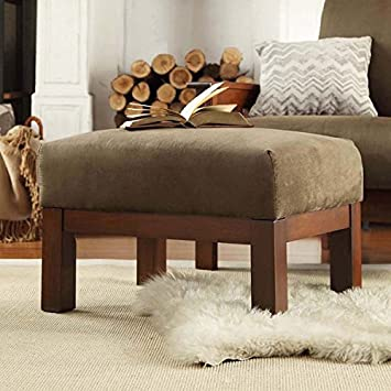 Strange Hills Mission Style Oak And Olive Rectangular Ottoman Made From Microfiber Fabric Spring Cushion Perfect In A Living Room Family Room Or Den Dailytribune Chair Design For Home Dailytribuneorg