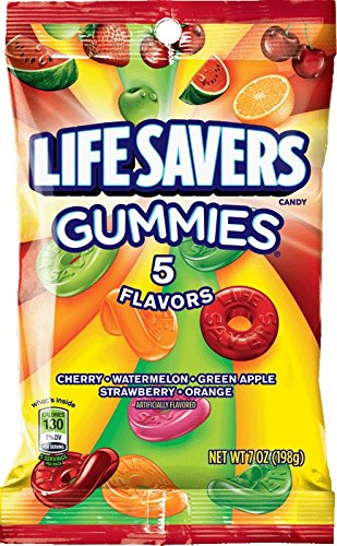 Life Savers 5 Flavors Gummies Candy Bag, 7 ounce -