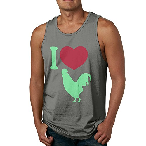 I LOVE COCK - POY-SAIN Funny Men's Adults Tank Top Shirt SizeM DeepHeather