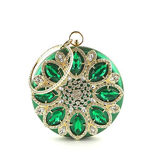 In Di Forma Black Da Alta Viaggio Diamante Donna Da Da Tonda Borsa Gamma Cristallo FFLLAS Sera Green Borsa Pochette A Di Lusso Scintillante Di TfCBInvq
