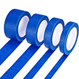 Bememo 4 Pieces Easy Release Painters Masking Tape of 4 Width (0.7 Inch, 1 Inch, 1.4 Inch, 1.9 Inch ), Total 132 Yards, Blue