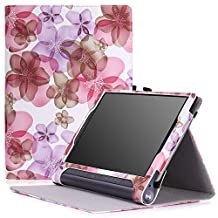 MoKo Lenovo Yoga Tab 3 Plus / Lenovo Yoga Tab 3 pro 10 Case - Slim Folding Cover Case for Lenovo Yoga Tab 3 Plus 10.1/ Lenovo YOGA Tab 3 Pro 10.1 Inch Tablet, Floral PURPLE