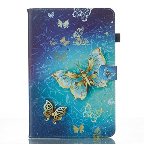 Samsung Galaxy Tab A 10.1 Wallet Case, Slim PU Leather Flip Folio Magnetic Closure Protective Cover with Credit Card & ID Card Slot,Full-Body 2017 Case for Women Men Girls Kids.