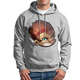 MARC Men's The Monkey King Hoodies Ash Size XXL