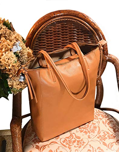 Sh81734 Cremallera Shopper Ca Made camello Beige Italy Bolsa 13 40 De Mujer Ornella Vías Venturi 2 X Suave Cm Bandolera Mango 37 In qEA6ttZ